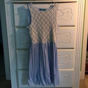 Pastel blue Francesca's dress